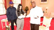 Kanye West gifts white sneakers to Uganda's president