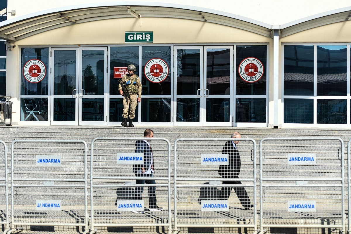 Turkish officers outside courthouse in Silivri district, Istanbul. (File photo: AFP)