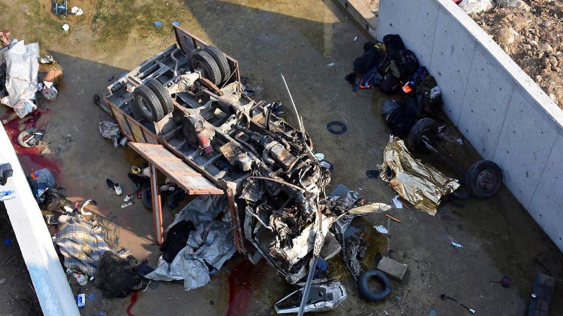 Turkey migrant bus crash. (AP)