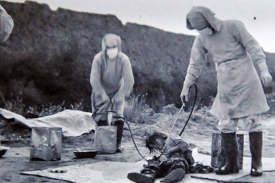 صورة لإحدى تجارب الوحدة 731 اليابانية