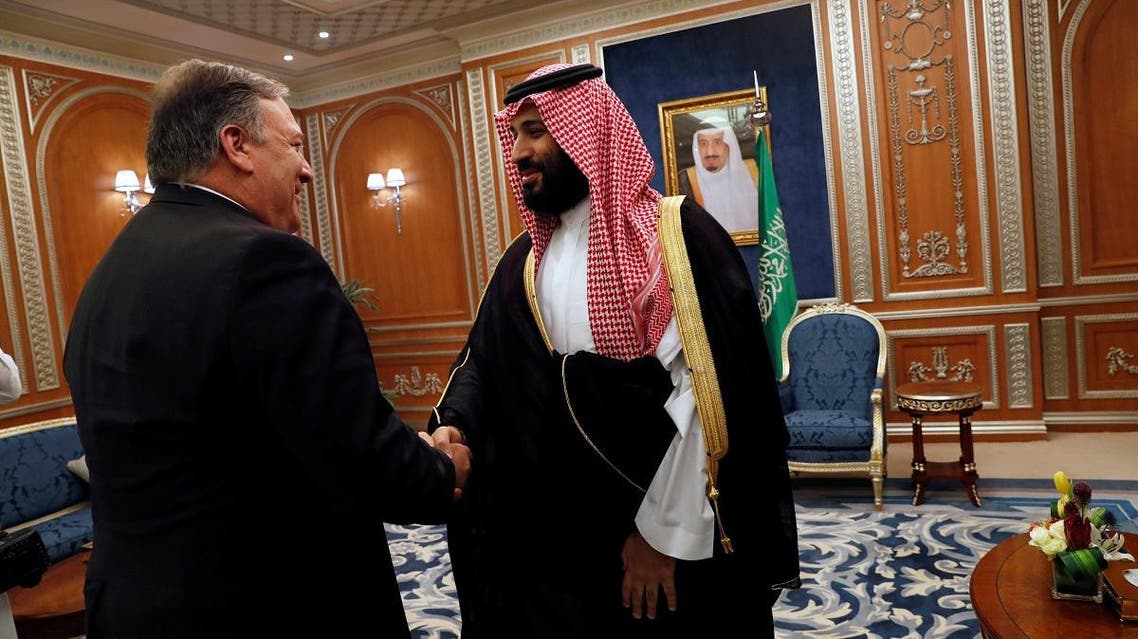 U.S. Secretary of State Mike Pompeo meets with the Saudi Crown Prince Mohammed bin Salman during his visits in Riyadh. (Reuters)