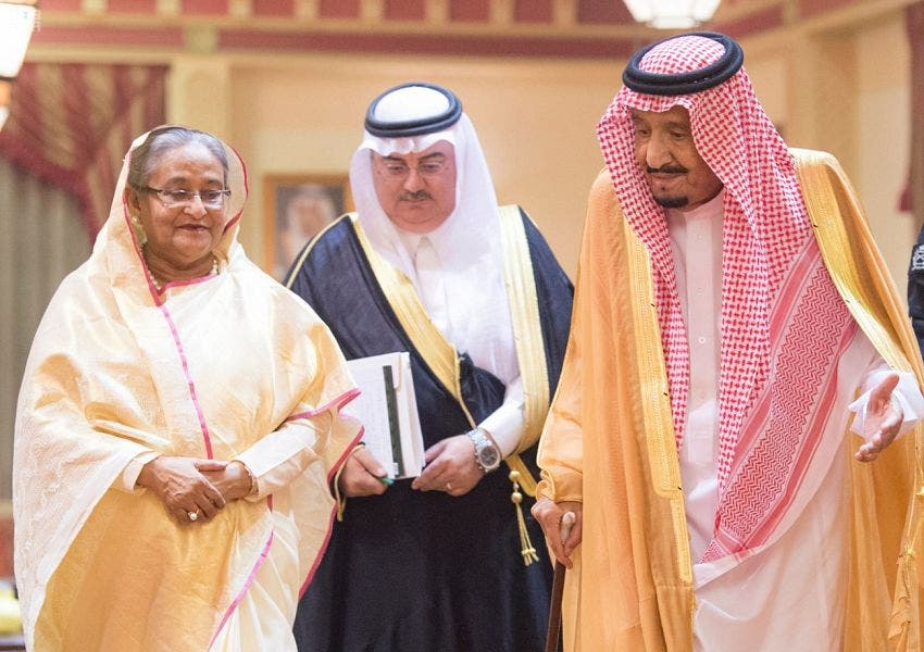 شیخ حسینہ واجد  اور  شاہ سلمان بن عبدالعزیز