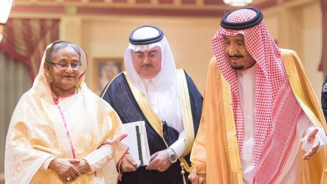 king salman receives Bangladesh PM (SPA)