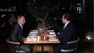 جانب من لقاء الرئيسين بوتين والسيسي الثلاثاء