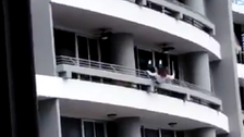 VIDEO: Woman dies after falling from 27th floor while taking selfie