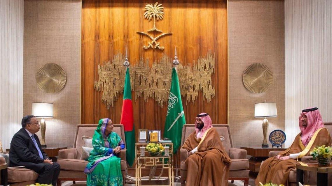 Saudi Crown Prince meets with Bangladeshi Prime Minister in Riyadh
