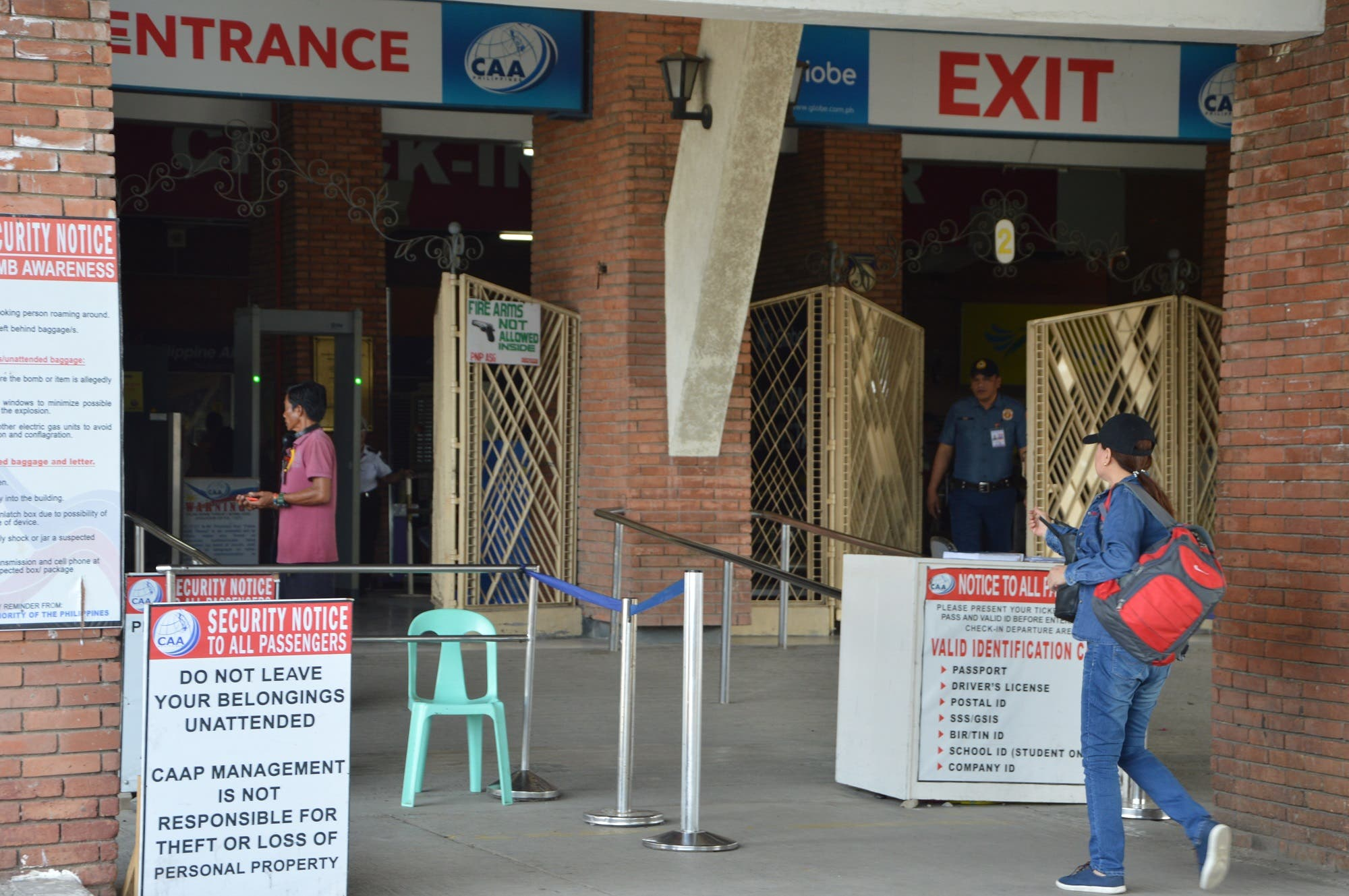 An overseas Filipino worker at the pre-departure entrance of the Zamboanga International Airport in the Southern Philippines. (Supplied)