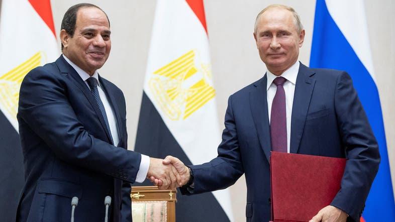 الرئيسان بوتين والسيسي