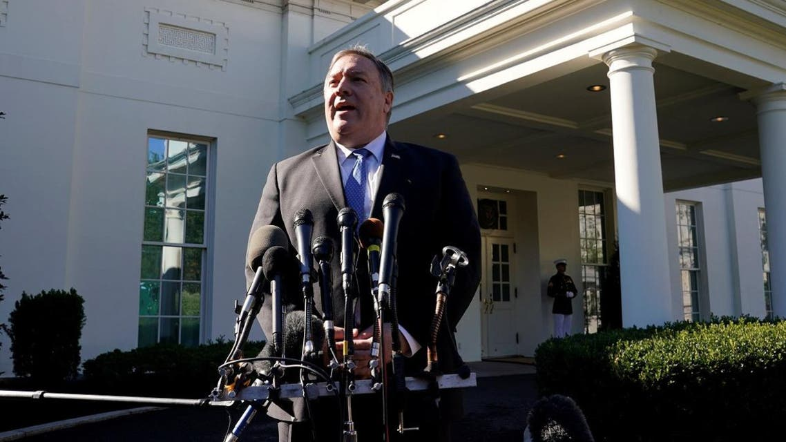 US Secretary of State Mike Pompeo speaks after his meeting with President Donald Trump at the White House in Washington, on October 18, 2018. (Reuters)