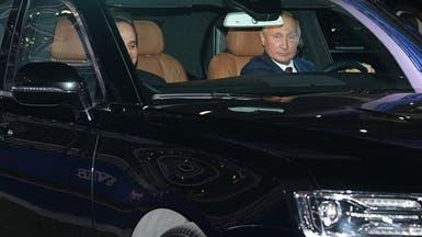 """شاهد بوتين والسيسي بجولة ليموزين على مضمار """"فورمولا 1"""""""