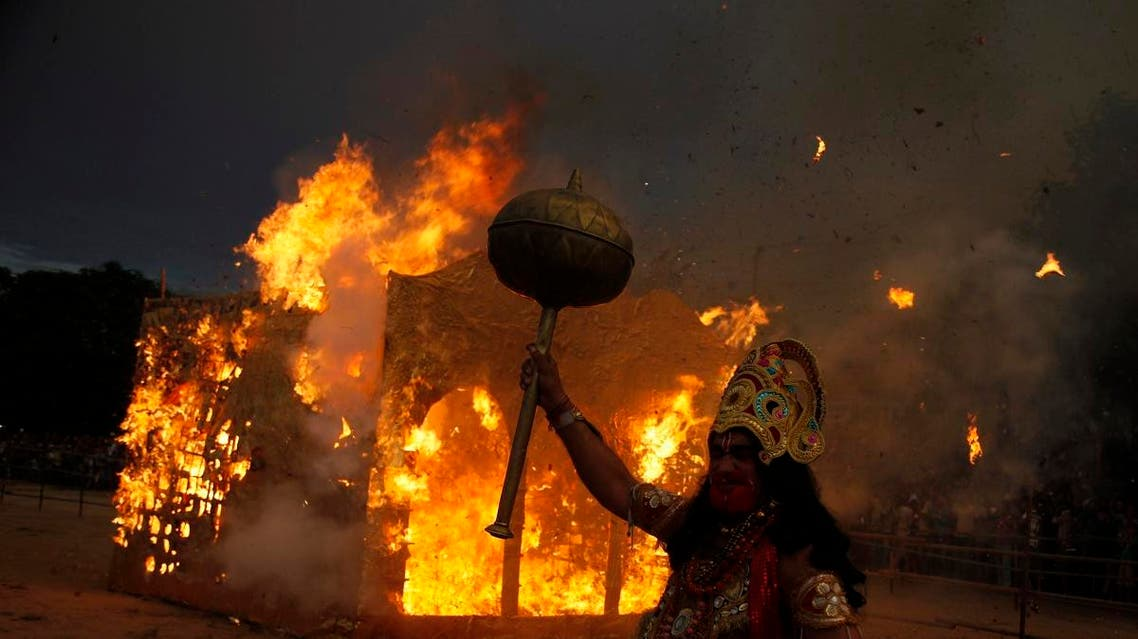 A file photo of the Dussehra festivities in India. (AP)
