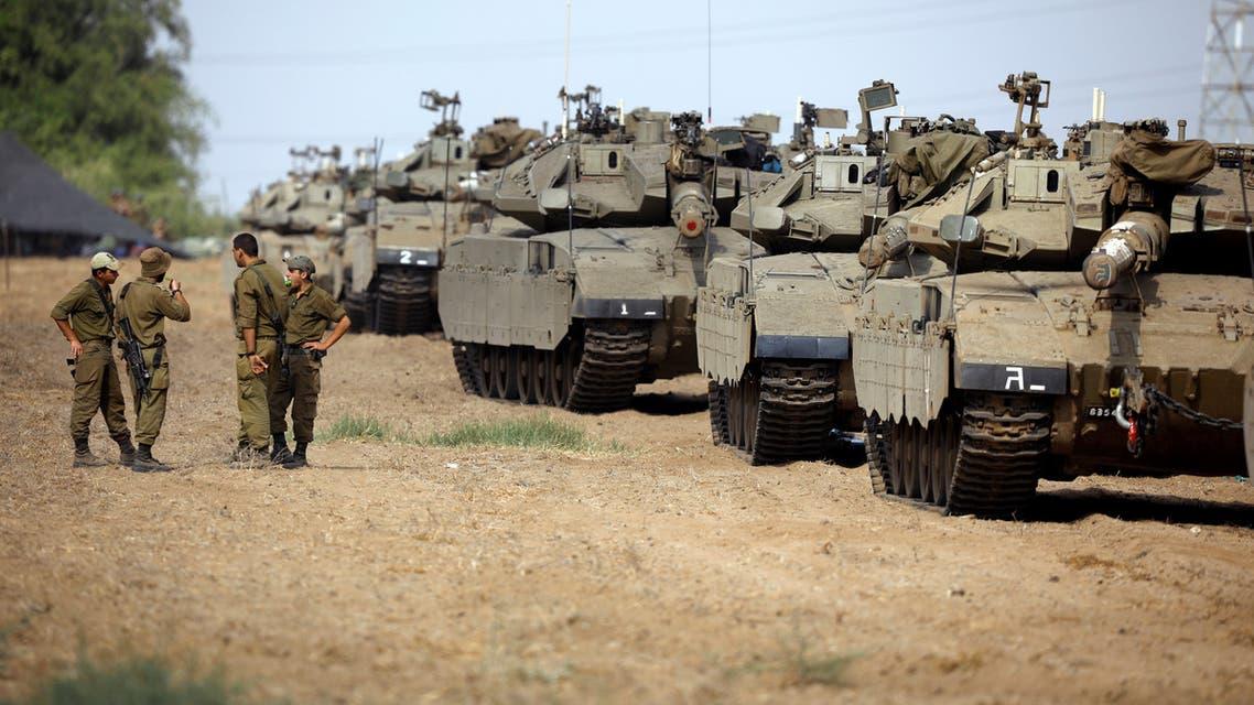 دبابات على حدود غزة