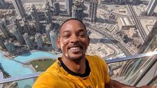 Will Smith marvels at Burj Khalifa during Dubai visit