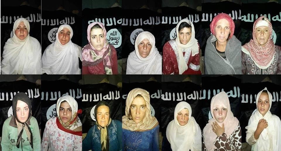 ISIS abducted around 30 people -- mostly women and children -- from Sweida in late July during the deadliest attack on Syria's Druze community of the seven-year civil war. (File photo)