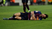 """ميسي يغادر الملعب مصاباً قبل أسبوع من """"الكلاسيكو"""""""