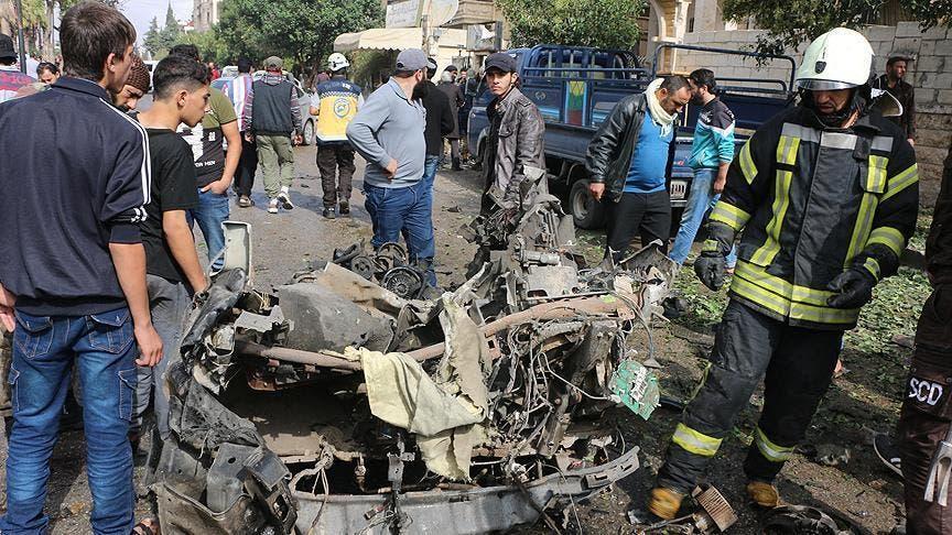 انفجار سيارة في إدلب(أرشيفية)