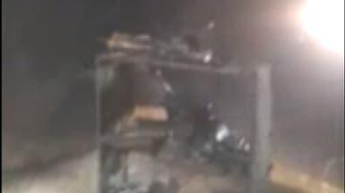 بالفيديو.. الحوثيون يفجرون مسجداً في ذمار