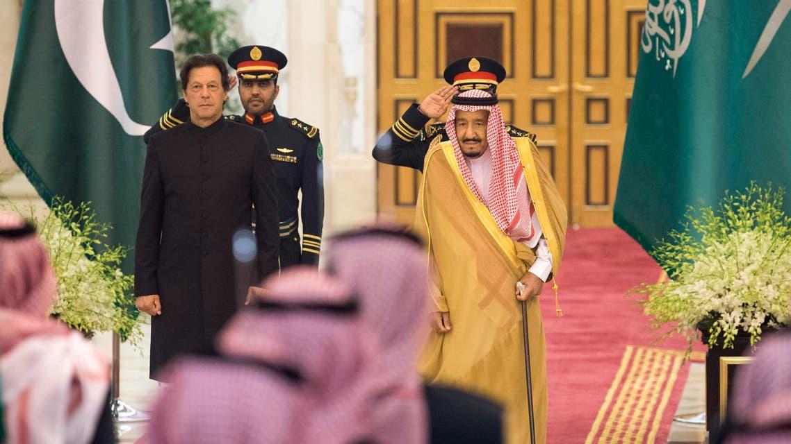 Prime Minister Imran Khan will visit Riyadh on 23 October 2018 on the invitation of Saudi King Salman. (AFP)