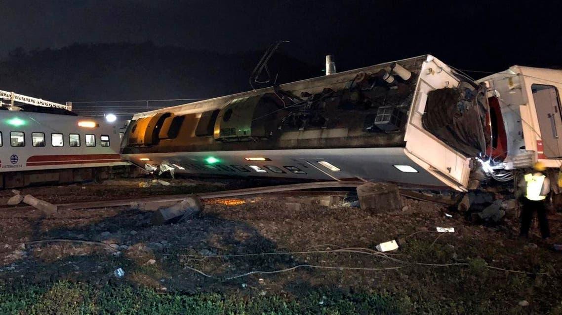 Taiwan train derailment oct.21, 2018 (AP)