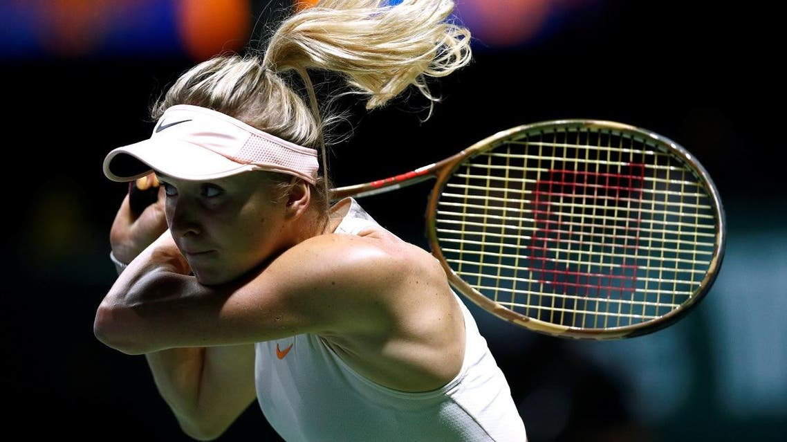 Elina Svitolina in action during her group stage match against Petra Kvitova. (Reuters)