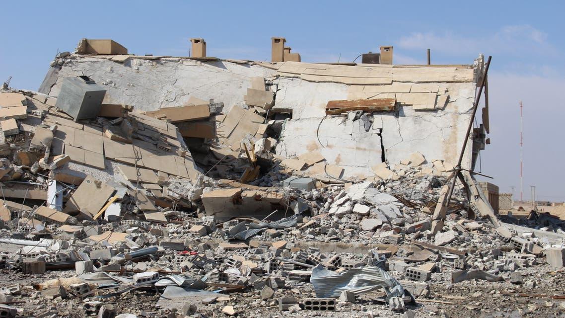 مشاهد الدمار في ريف حمص وسط البلاد.