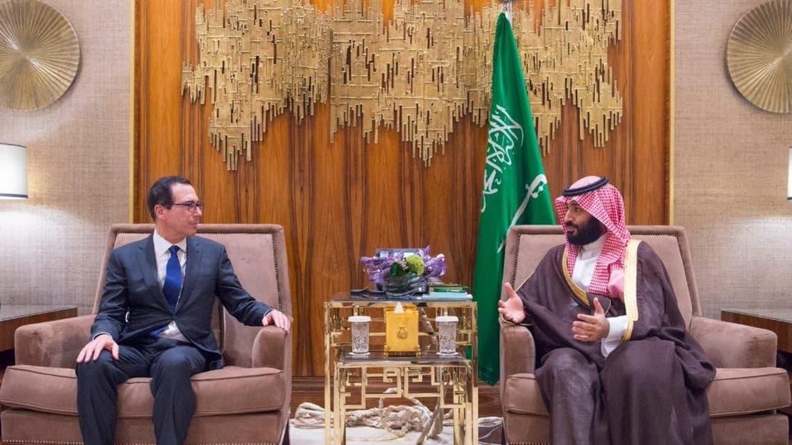 Saudi Crown Prince meets with US Treasury Secretary Steven Mnuchin