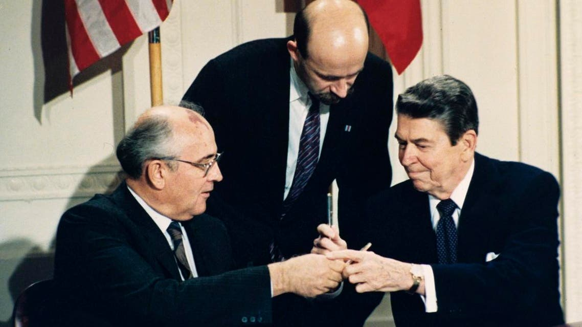 the Intermediate-Range Nuclear Forces, or INF, treaty (AFP)