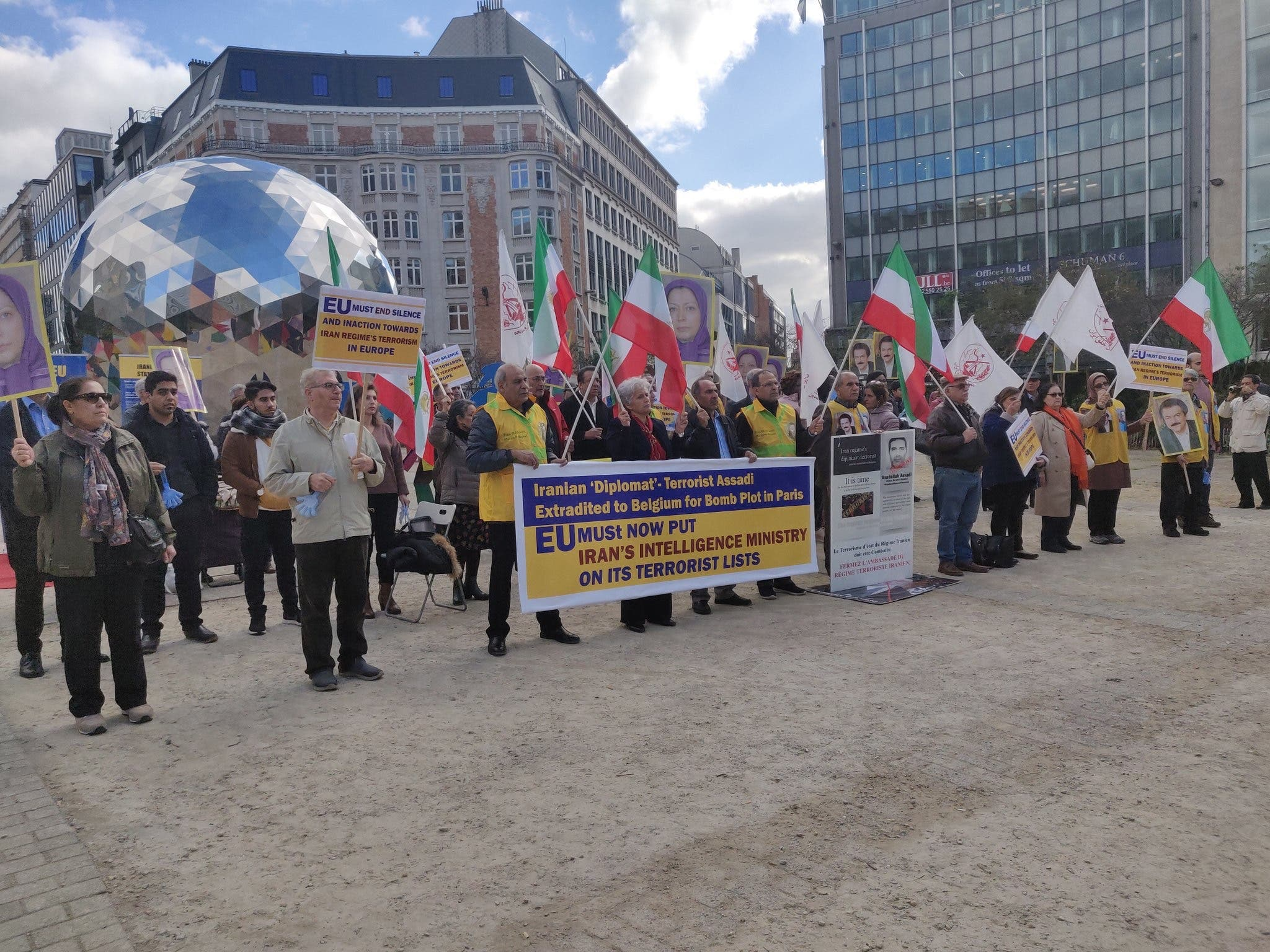 Protesters demand Iran's intelligence ministry be placed on EU terror black List