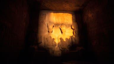 الشمس تتعامد على وجه فرعون مصر الشهير رمسيس الثاني