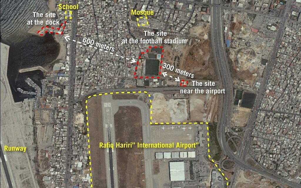 IDF releases photos of alleged Hezbollah missile sites near Beirut airport