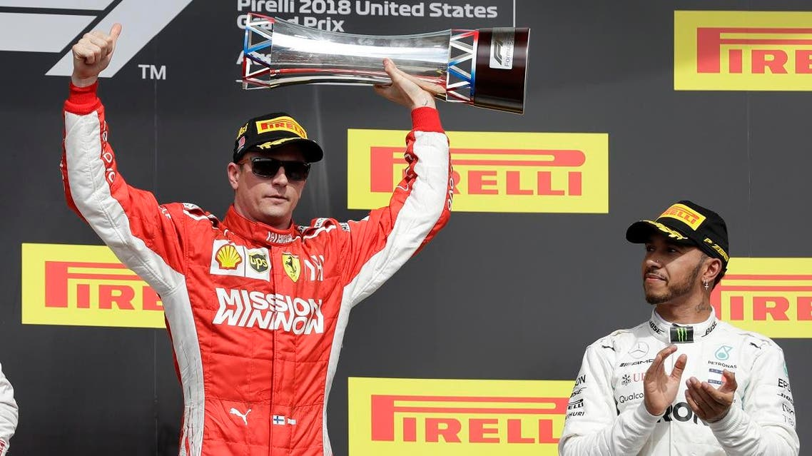 Raikkonen US grand prix (AP)