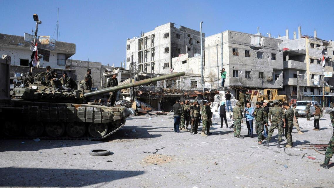 عناصر تابعة لقوات النظام السوري 3