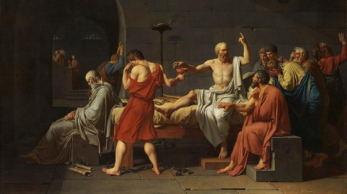 The Death of Socrates by Jacques-Louis David. (Catharine Lorillard Wolfe Collection, Wolfe Fund, 1931/Wikicommons)