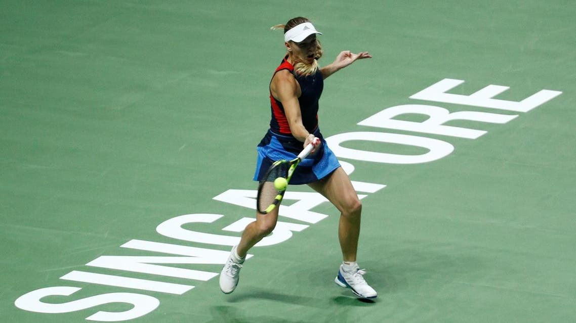 Denmark's Caroline Wozniacki in action at the WTA Finals. (Reuters)