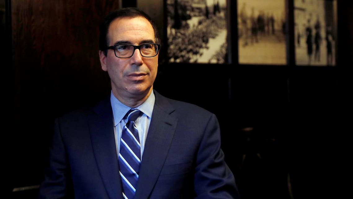 Steven Mnuchin speaks during his interview with Reuters in Jerusalem October 21, 2018. (Reuters)