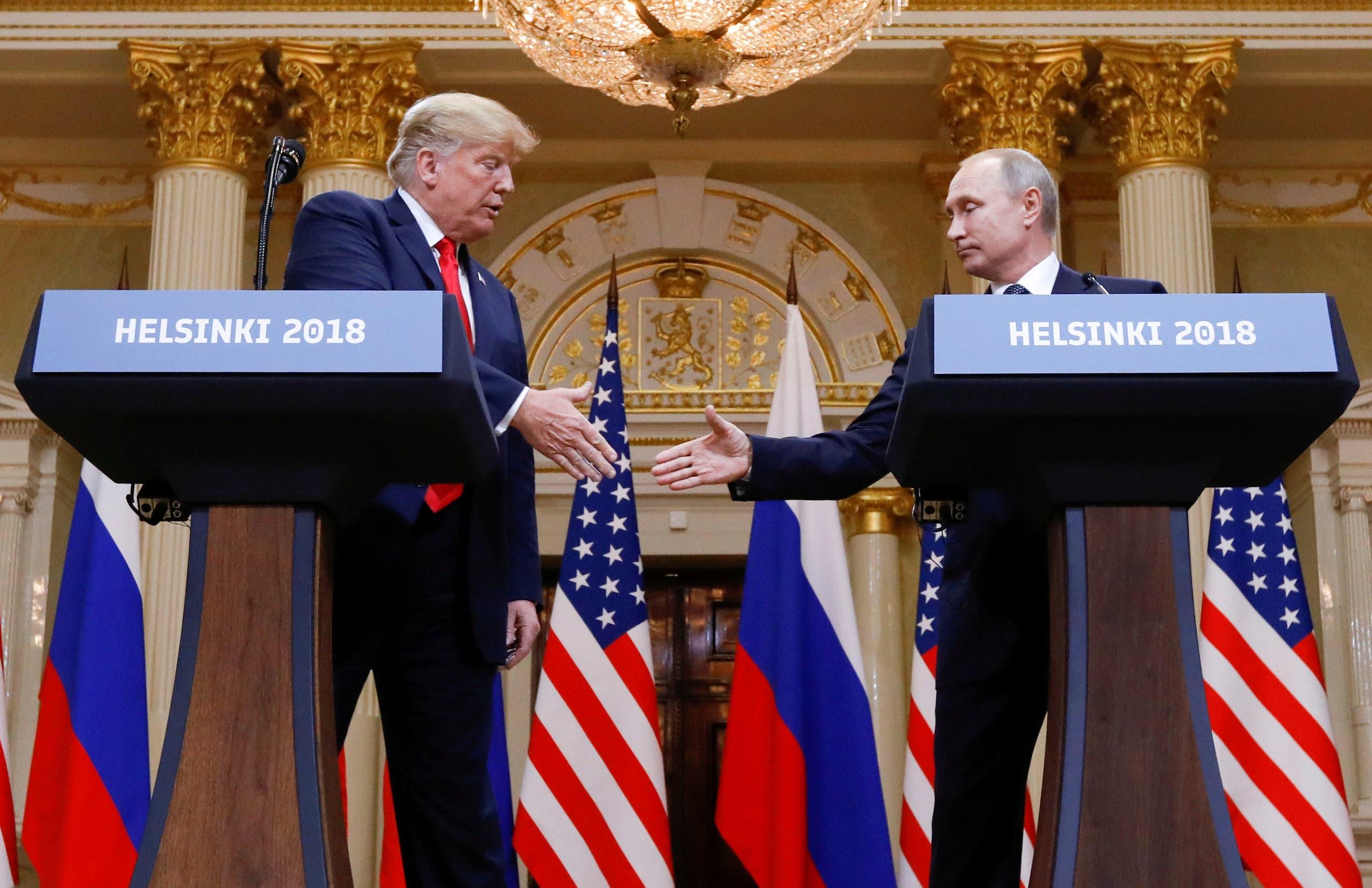 Meeting 2018 in Helsinki between Trump and Putin