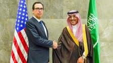 Saudi Finance Minister meets US Treasury Secretary Mnuchin