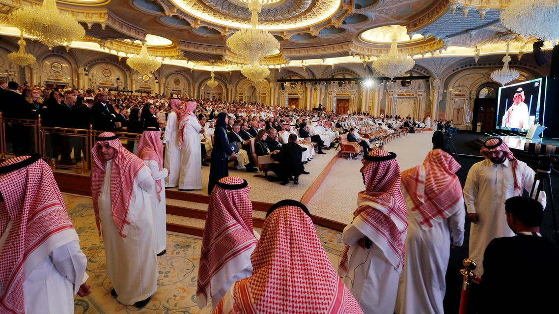 Future Investment Initiative conference in progress, in Riyadh, on Oct. 23, 2018. (AP)