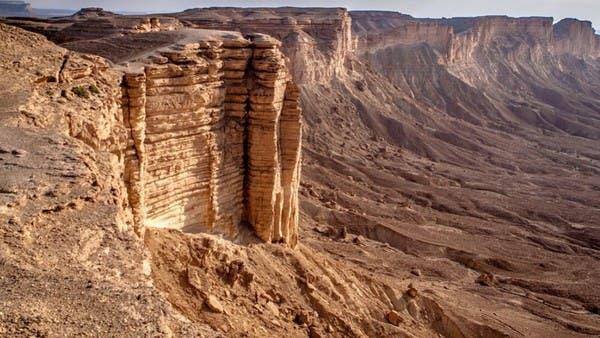 ما هو جبل طويق الذي شبه به ولي العهد همة السعوديين