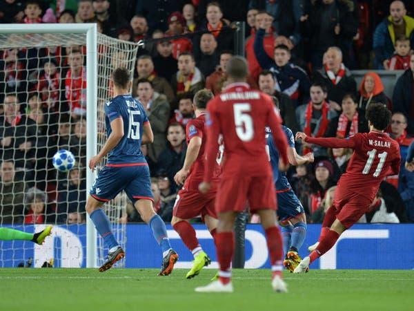 صلاح يسجل ثنائية في فوز ليفربول على النجم الأحمر