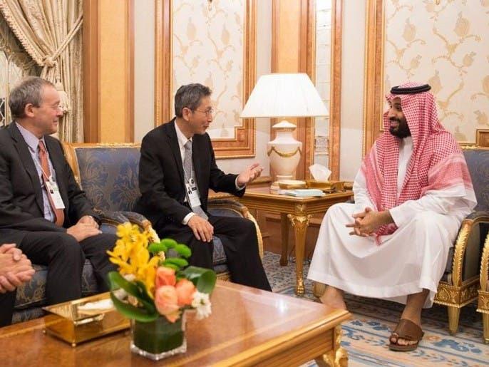 """ولي العهد السعودي يلتقي رئيس شركة """"لوسيد موتورز """""""