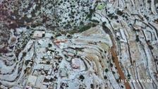 IN PHOTOS: Rain, hail blanket Asir village in coat of white