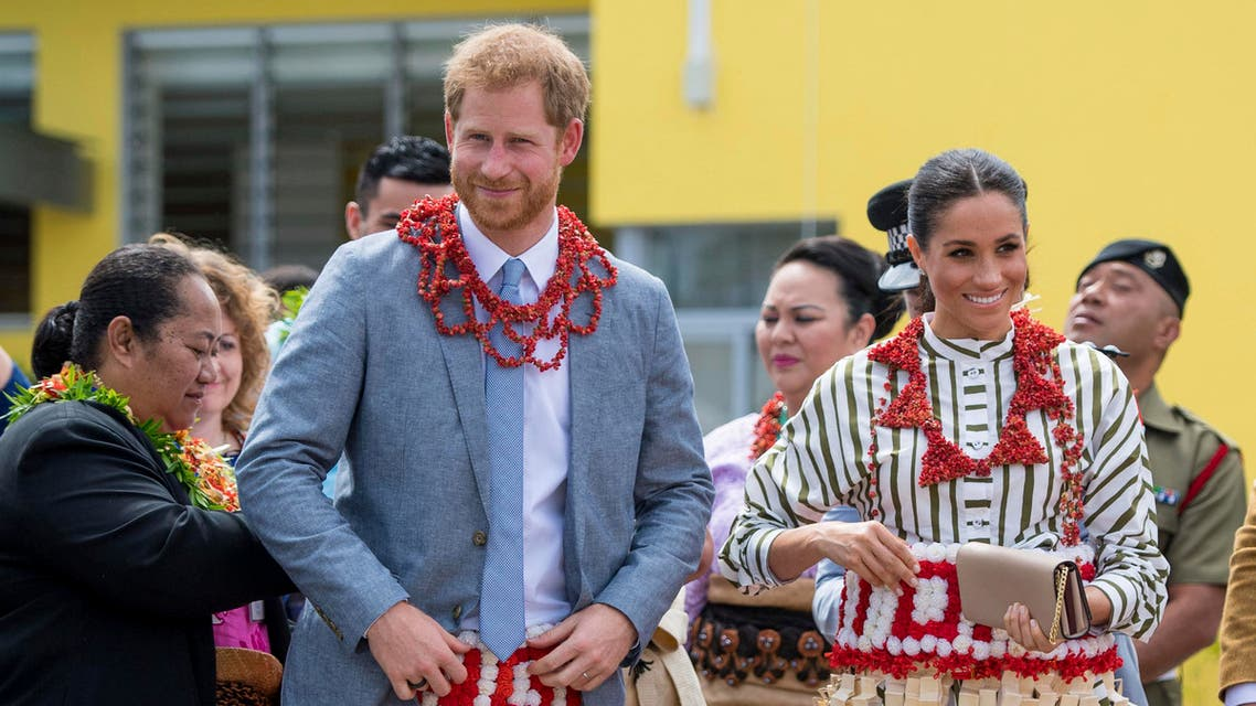 prince harry and meghan markle in tonga (AP)
