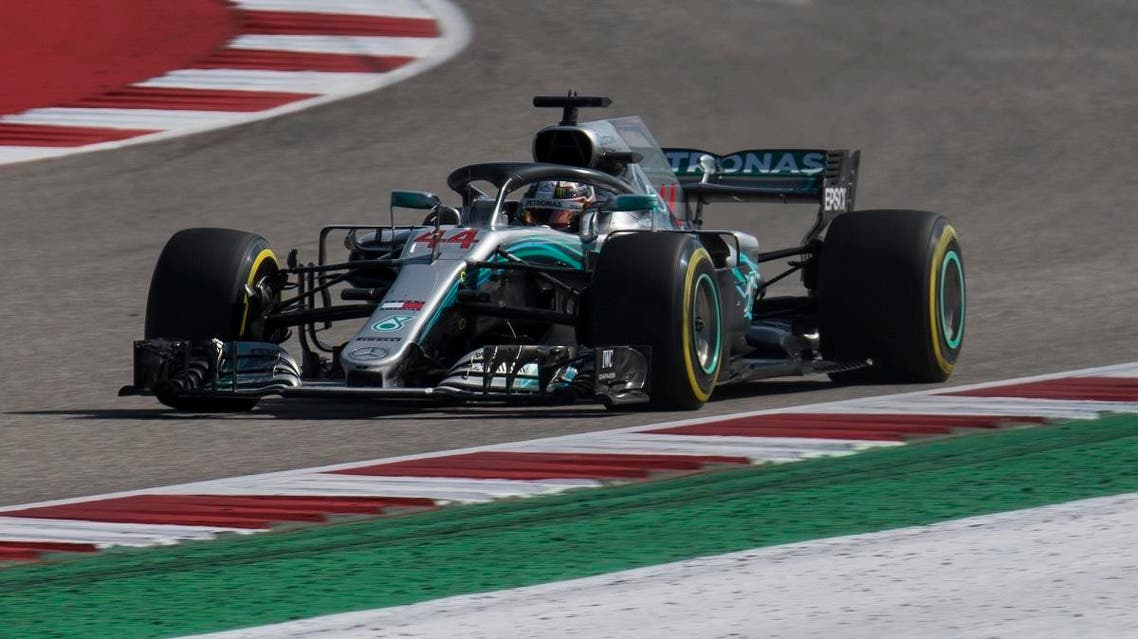Mercedes driver Lewis Hamilton (44) of Great Britain during the United States Grand Prix at Circuit of the Americas. (Jerome Miron-USA TODAY Sports)