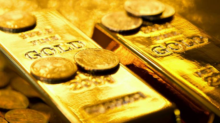 صورة لقطع من الذهب