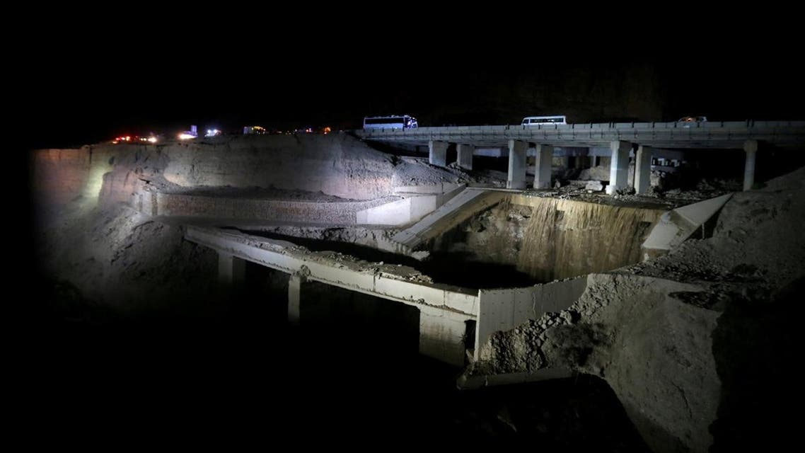A general view show the location of the accident where people were killed on Thursday in a flash flood near the Dead Sea. (Reuters)