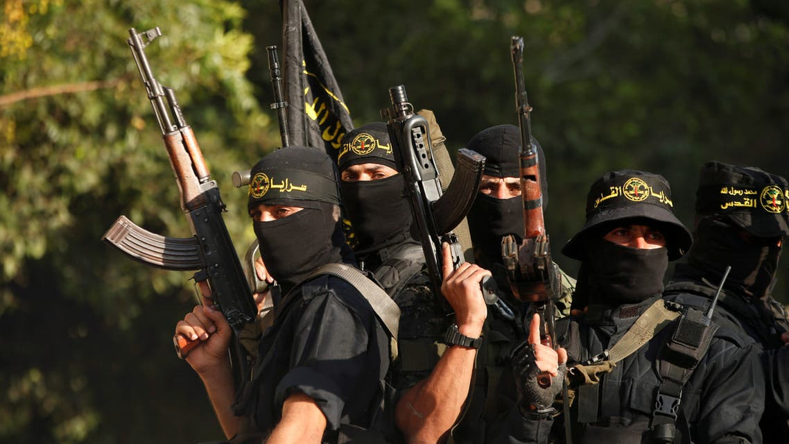 Palestinian Islamic Jihad militants participate in a military show in Gaza City October 4, 2018. REUTERS/Mohammed Salem