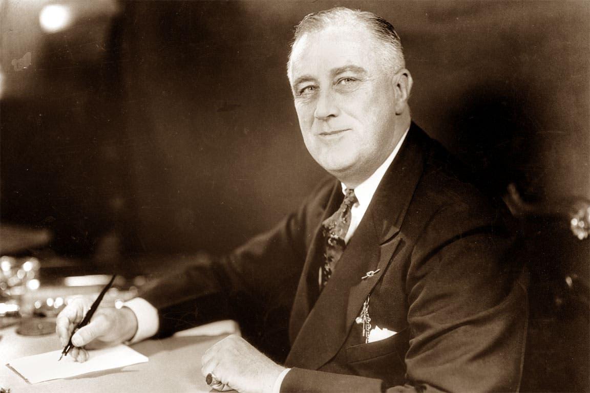 صورة فوتوغرافية للرئيس الأميركي فرانكلن روزفلت