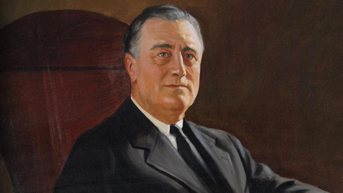 لوحة زيتية تجسد الرئيس الأميركي فرانكلن روزفلت