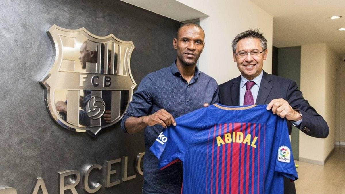 لحظة إعلان أبيدال مديراً في برشلونة
